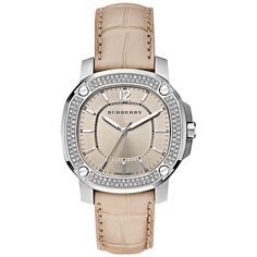 The Burberry Britain BBY1500 38mm Quartz ($995) ❤ liked on Polyvore