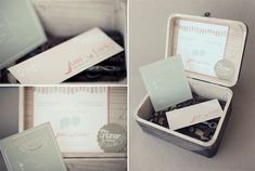 wooden box to place invitations in, fabulous!