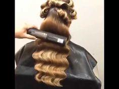 How to Make the Elegant Vintage Hair Waves Hair Tutorial – Har Handledning Retro Waves Hair, Vintage Waves Hair, Retro Curls, Vintage Curls, Vintage Wedding Hair, Hair Wedding, Vintage Hairstyles Tutorial, Retro Hairstyles, Elegant Hairstyles