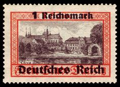 1939 - Gdansk with overprints - 1RM German Stamps, Danzig, Postage Stamps, Poland, Wwii, Germany, Coins, Stamps, Door Bells