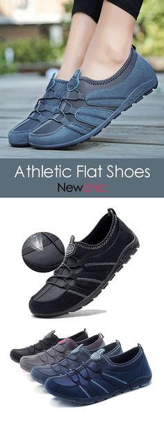 8fa8f7101cb4 【47% off】Comfortable Slip On Walking Slip Resistant Athletic Flat Shoes.#