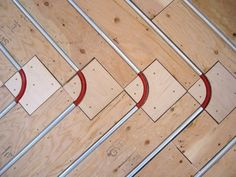 Radiant heating systems, patented products from Radiant Engineering. Have warm floors in the winter. http://www.radiantengineering.com #ThermoFin #radiant #floor #heating #tubing #layout