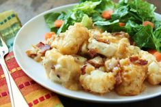 Cheesy Chicken and Tater Tot Bake on @imalazymom.com