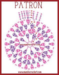 Risultati immagini per gorras a crochet con patrones Crochet Mandala, Crochet Motif, Diy Crochet, Crochet Doilies, Crochet Flowers, Crochet Square Patterns, Crochet Diagram, Crochet Stitches Patterns, Crochet Chart