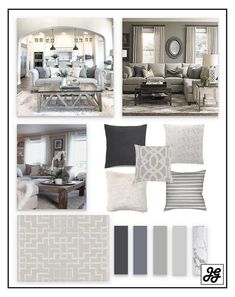 Mood Board, Traditional Living Room, Blue, NEUTRAL, Pop Of Color, RUSTIC