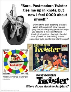 Postmodern Twister - The Sacred Sandwich #Reformed #Humor
