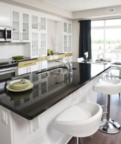 white kitchen with stools & Modern Kitchen with Devalo White Leather Bar Stools £139.50. What ... islam-shia.org