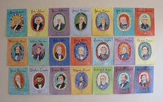 The Presidential Portraits, along with other card series, growth charts, and posters, are available from Tada by Jill McDonald.
