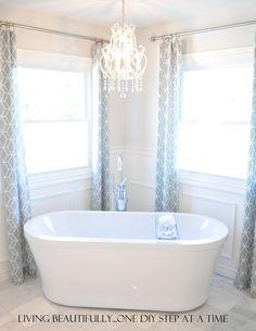 Pretty master bath!  Bubbles please!