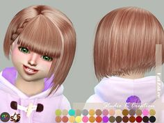 Animate hair 68 chika-toddler | Studio K Creation