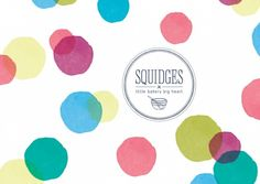 Squidges bakery branding with logo and photography