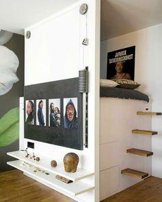 Mini apartment. Kompakt sove- og kontorløsning