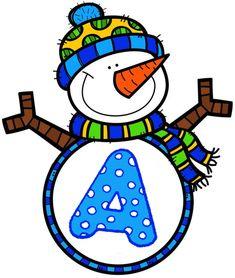 Litere Smurfs, Preschool, Calendar, Character, Education, Decor, Welcome Signs, December, Xmas