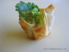 A Baker's House: Wonton Cups - easy summer entertaining appetizer