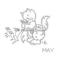 Primrose Design | Vintage | Embroidery Pattern | A Year of Cats
