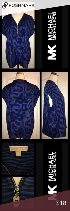 MICHAEL KORS Zebra Print Top Super comfortable style in EUC!  Practical for year-round wear - just throw on a black cardi and your favorite black skinnys.  💧Washable Michael Kors Tops