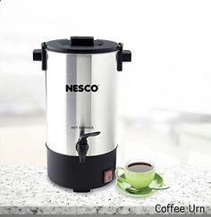 Coffee Urn - Nesco CU-25 25 Cup Coffee Urn, Stainless Steel/Black