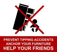 Prevent furniture tipping accidents by anchoring your furniture, TVs, dressers, shelves to walls. And then help your friends do the same! Moms have to support each other on this. No more hurt babies! Dressers, Tvs, Baby Kids, It Hurts, Pregnancy, Playing Cards, Parenting, Walls, Shelves