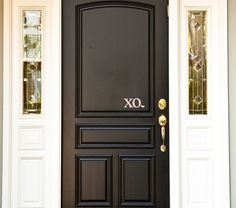 The perfect Valentines Front Door Vinyl Decal. Welcome your guest with a lovely XO.