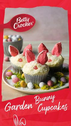 Bunny Cupcakes, Easter Bunny Cake, Easter Cupcakes, Baking Cupcakes, Easter Treats, Easter Food, Fun Baking Recipes, Easter Recipes, Dessert Recipes