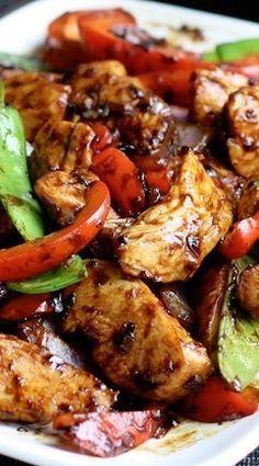 Stir-Fried Chicken with Chinese Garlic Sauce