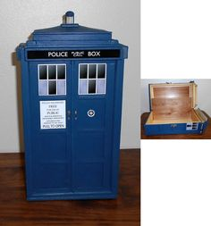 $75.00 tardis treasure box doctor who handmade merchandise http://raggedyfan.com/tardis-inspired-treasure-box/