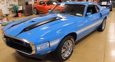 Grabber Blue 1970 Shelby GT500 in a great overall condition is already special enough, but how about one of only two built with this options? Check it out!