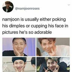 I love his dumple cute