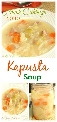 Polish Cabbage Soup – Family Table Treasures – Famous Last Words Polish Cabbage Soup Recipe, Polish Soup, Cabbage Soup Recipes, Cabbage Soup Diet, Cabbage Stew, Stuffed Cabbage Soup, Ukrainian Recipes, Croatian Recipes, Hungarian Recipes
