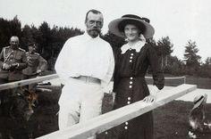 Николай II c дочерью Татьяной