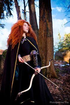 by Zoisite-Virupaksha on DeviantArt Merida Cosplay, Cosplay Tutorial, Brave, Fairy Tales, Deviantart, Disney Princess, Hair Styles, People, Model