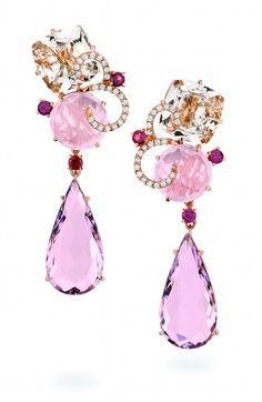 Something to sparkle a beautiful gemstones and diamonds earrings by Brumani. Gems Jewelry, Statement Jewelry, Jewelry Art, Jewelry Accessories, Fine Jewelry, Jewelry Design, Gemstone Earrings, Crystal Earrings, Saphir Rose