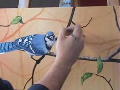 "Acrylic Painting Lessons by Tim Gagnon painting Tips and Tricks ""painting bark on a tree limb"" - YouTube"