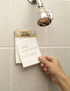 Never forget a precious ~shower thought~ again.   23 Gadgets That Will Actually Help You Get Your Sh*t Together