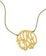 West Avenue Jewelry Medium Monogram Necklace - my favorite necklace right now