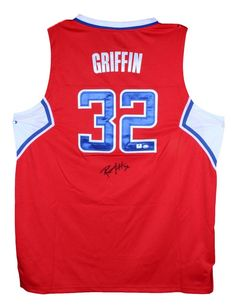 Blake Griffin Autographed Jersey - GAI. Every piece in this run comes with Sportsmemorabilia.coms own numbered hologram. The stats say it all; theres a reason why hes one of the best. Like every piece we sell, this is a high quality item at a great price. Authenticity can be a problem in the sports memorabilia collecting industry, which is why we take pride in offering only 100% certified items. Buy now, since items like this gain value. Terrific autograph quality. Blake Griffin is ...
