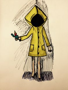 Six from Little Nightmares  Pen,Pencil, and Ink drawing  #drawings #Little nightmares