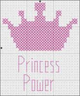 Free princess crown Cross Stitch Patterns | One easy and two more complex cross stitch pattern for children to ...