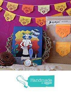 Dia de Los Muertos - Day of the Dead - LAS FLORES mini papel picado banners - marigolds from Ay Mujer https://www.amazon.com/dp/B01BQX56HG/ref=hnd_sw_r_pi_dp_dineybTP9D567 #handmadeatamazon