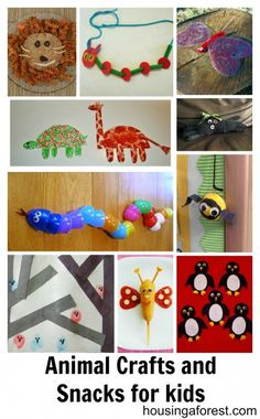 Adorable Animal Crafts and Snacks for kids