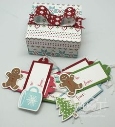 Stampin' Up! Stamping T! - One Sheet Box and Tags