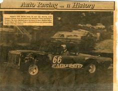 Arnie Bralund at the Hamilton County Speedway in Webster City, Iowa.
