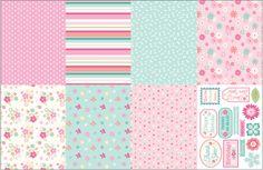 Birthday Florals Bonus Papers | cardmakingandpapercraft.com