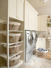 Schedule your laundry loads throughout the week so that you're finished with the chore before the weekend arrives. More storage tips: http://www.bhg.com/blogs/better-homes-and-gardens-style-blog/month-of-storage/?socsrc=bhgpin013013MOSlaundrystorage