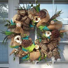 burlap deco | Summer Spring Bumble Bee Decor Burlap Deco Mesh Door Decoration Wreath