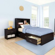 'Taylor' 3-Piece Youth Bedroom Ensemble - Sears | Sears Canada Canada Shopping, Man Room, Taylor S, Cool Beds, Online Furniture, Mattress, Kids Room, Bedroom, 3 Piece
