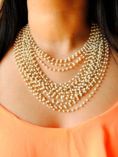 Multi layer pearl chain