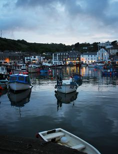 The harbor is beautiful at sunset in Mevagissey, Cornwall