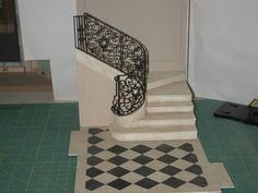 Modern Miniatures Whitledge-Burgess: Staircase and Railing Part II ala Ray