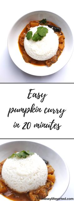 This vegan Indian inspired pumpkin curry recipe is super easy to make for a healthy dinner!
